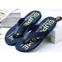 Best Summer Womens Thong House Slippers , Plastic Flip Flops With Fashion Letters Printed wholesale