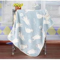China Flannel Baby Blankets For Spring / Autumn Soft Healthy Cartoon Print Blanket on sale