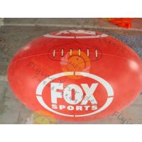 Cheap Attractive 1.5m Inflatable Rugby Ball Helium PVC Wind - Resistant for sale