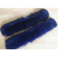 Best Raccoon fur collar 100% Real Raccoon Fur Collar Large Blue Coat Trim Accessories wholesale