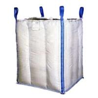 Best 1.5 Tons 4 Panel Baffle Big FIBC Bulk Bag Blue / Orange Color For Loading wholesale