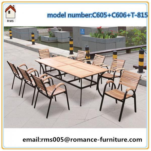 Cheap modern wood outdoor furniture garden furniture set