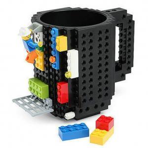 China Build-On Brick Mug Cup DIY Creative Building Blocks Coffee Tea Beverage Drinking Funny Gift on sale