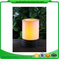 Best White Plastic Candle Solar Garden Lights Battery Operated With Black Wick  shrinkwrap+belly band 17x17x12cm 3.33kgs/ctn wholesale