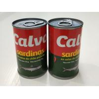 Buy cheap 155g Tall Tin Spicy Canned Sardine in Tomato Sauce with Hot Chilli from wholesalers