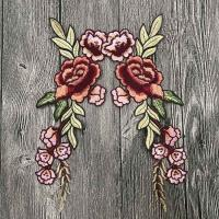 Best Colourful Floral Embroidered Applique Patches , Polyester Sew On Flower Appliques wholesale