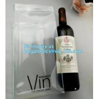 China Ice gel pack PVC Can bottle wine cooler bag, Promotional PVC Ice bag for wine, recyclable clear tall PVC wine ice bag on sale