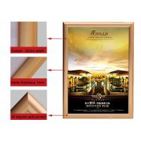 Best A2 Size Golden Color Aluminium Snap Frames , Jewelry Advertising Snap Display Frames  wholesale