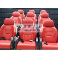 Best Outside Mobile 6D Movie Theater 3 / 4 Seat Per Set Motion Chairs With Red Color wholesale