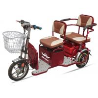 China 48V20A 350W Powered Electric Tricycles For Adults , 2 Seat Electric  Tricycle on sale