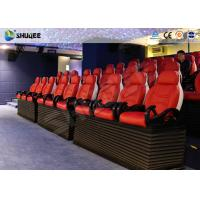 Best Fiber Glass Ride Experience 5D Movie Theater Simulator System With Red Chair wholesale