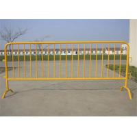 Buy cheap Galvanized Steel Portable Crowd Control Barricades For Road Traffic Safety from wholesalers