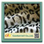 Best Leopard Plush Cat Toys / Garment Luxury Faux Fur Fabric , Artificial Fur Cloth Shrink-Resistant wholesale