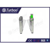 Best Access Control Flap Barrier Gate / Electronic Turnstile Gates Infrared Sensors wholesale