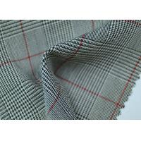 Best 100% Polyester Cotton Yarn Dyed Fabric / Grey Striped Fabric Eco - Friendly wholesale