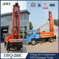 Cheap DFQ-200C truck mounted 200m DTH water well drilling rig, 200m Drilling Rig for sale