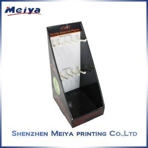 Best CMYK printing Black Hook Display Stand for e-cigerattes , custom cardboard displays wholesale