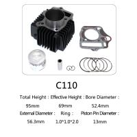 Best Original Motorcycle Cylinder Kit C110 For Dayang Motor , Motorcycle Engine Parts wholesale