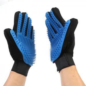Best Flexible Five Finger Pet Comb Glove Gentle Dog Brush Glove For Long Short Hair wholesale