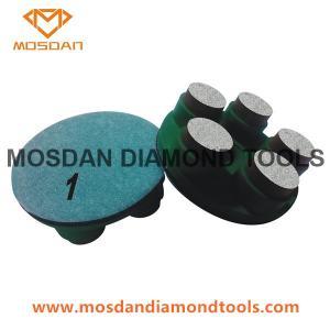 Best 3'' Hybrid Copper 5 Dots Segment Polishing Pucks Pads for Concrete wholesale