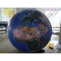 Cheap Reusable 2.5m Inflatable Earth Ball Fire Retardant UV Protected Printing for sale