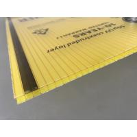 Cheap Yellow Color Polycarbonate Twin Wall Roofing Sheets 4mm - 10mm Thickness for sale