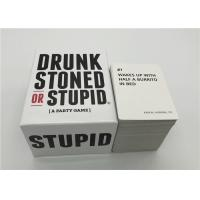 Best Intellectual Taste Board Game Drunk Stoned Or Stupid Cards For Family / Friends wholesale