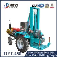 Buy cheap Top drive 450mm DFT-450 Large Caliber Water Bore Drilling Rig with 120m Drilling from wholesalers
