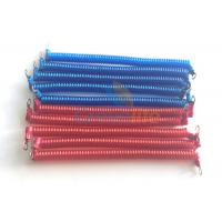 Best Fashionable Blue / Red Engineering Machines Spiral Tethers Stretch 1M With 2 Eyelet Terminals wholesale