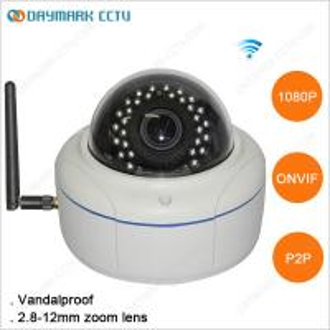 Vandalproof 2 Megapixel 1080p ONVIF Wireless IP Camera