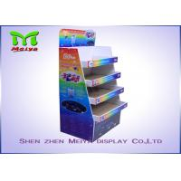 Cheap Supermarket Promotion Cmyk Printed Cardboard Floor Displays Racks for Chocolate / Biscuit / Chewing Gums for sale