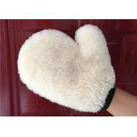 Best Auto Detailing Real Car Cleaning Gloves , Ultra Soft Wool Car Wash Mitt  wholesale