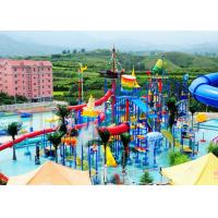Best Children Water Aqua Playground , Customized Fiberglass Water Slide wholesale