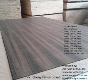Best Ebony Fancy Plywood 1220 x 2440mm wholesale