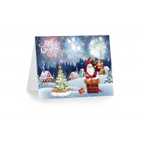 Best 3D 12x17cm Greeting Card Lenticular Printing Services  With Customized X-mas Images wholesale