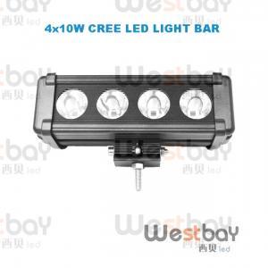 China 40W 8 Inches CREE LED Work Light Bar LED Flood Beam Spotlight Beam Bar led light bar on sale