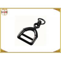 China Zinc Alloy Metal Shoe Buckles Clips With D Ring Custom Black Color on sale