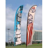 Best Trade Show Feather Flags Banner , Swooper Flag Feather Fly Knitted Polyester wholesale