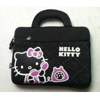 Best 14 Inch Black Neoprene Laptop Tote Bag Hello Kitty With Handle wholesale