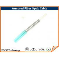 China Indoor Outdoor Fiber Optic Armored Cable Network With Flexible Metal Tube on sale