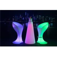Best PE Plastic Full Color Led Glow Furniture With Metal Treadle / LED Bar Stool wholesale