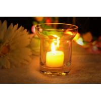 Best 7Oz Mouth Blown Clear Decorating Glass Candle Holders , Astm wholesale