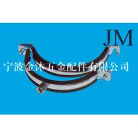 Quality 150 mm Heavy Duty Pipe Clamps With Rubber Lined M8 / M10 Nut Connection wholesale