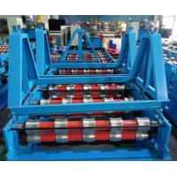 Best Glazed Roof Panel Roll Forming Machine , Cold Forming Machine Panasonic PLC Control wholesale
