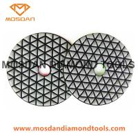 Best 4 Inch Triangle Segment Dry Polishing Pads for Marble Stone Slab wholesale