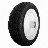 Best 10-inch PU Foam Wheel with 150kg Loading Capacity, Used for Wheelbarrow, Tool Cart and Machine wholesale