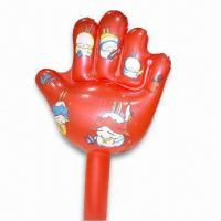 Best PVC Inflatable Hand with Customized Designs, Various Colors are Available wholesale