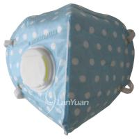 Best Blue Nonwoven Face Mask with White Dots Pattern and Valve wholesale