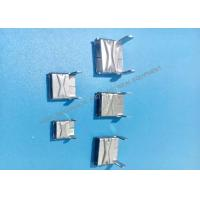 China 201 L Type Buckles Metal Stamping Part , Stamped Steel Parts For Banding on sale