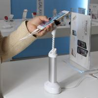 anti-thet system security display grip smartphone stand with cable concealed inside